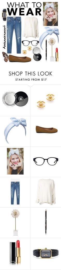 """What to Wear : free friday"" by sevianiannisa on Polyvore featuring Chanel, Tory Burch, Zara, URBAN ZEN, Kate Spade and Forever 21"