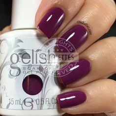 Gelish Warriors Don't Wine - Swatch by Chickettes.com