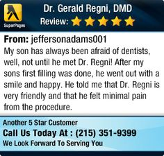 My son has always been afraid of dentists, well, not until he met Dr. Regni! After my...