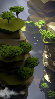 ArtStation - Lowpoly landscape, Dmitry Kondratkov