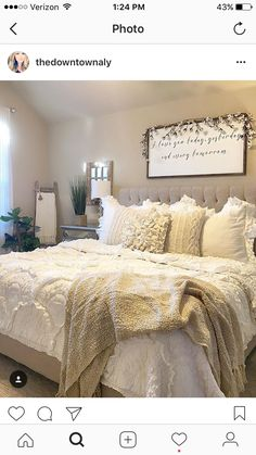 Rustic Bedroom Ideas - If you intend to go to sleep in rustic elegant then this article is ideal for you. We've collected a lot of rustic bedroom design ideas you can make use of. Bedroom Bed, Dream Bedroom, Bedroom Ideas, Bedroom Colors, Guest Room Bedding Ideas, White Bedding Decor, Farm Bedroom, Garden Bedroom, Bedroom Designs
