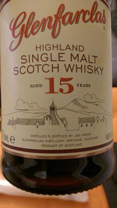 Whisky GLENFARCLAS 15 Ans . 46°... 1 Nez - Vin, chene et malt, pointe de fumé/tourbe, fruits... 2 Bouche - Bois, caramel, fruits secs, amande, vin... 3 Finale - Vin, fruits...