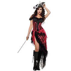 Starline Womens Black Beards Beloved Sexy Pirate Costume Set RedBlack Medium >>> See this great product.