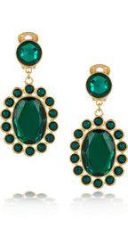 MIU MIU  Crystal clip earrings  $235