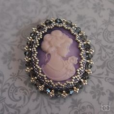 (5) Name: 'Jewelry : Tutorial beading around an oval cabochon