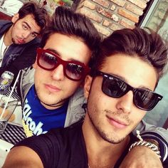 Who's that waaay in the back looking left out of the male model photo shoot? The most gorgeous IGNAZIO with Piero & Gianluca! IL VOLO❤❤❤