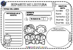 Reportes de lectura para imprimir GRATIS - Imagenes Educativas Daily Five, Spanish Class, Teaching Materials, Second Grade, Preschool Activities, Diy For Kids, Back To School, Acting, Homeschool