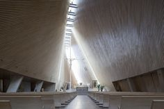 Modern church architecture by Javier Sordo Madaleno Bringas.