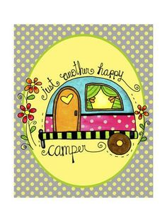 Just Another Happy Camper Giclee Print by Jennifer Nilsson at Art.com