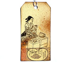 Japanese Geisha eating / Bento stamp / Unmounted by MAKIstamps, €5.30