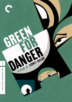Green for Danger - poster design-another great alistair sim treat.