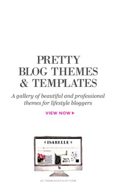 Pretty blog themes & templates for lifestyle bloggers and business owners