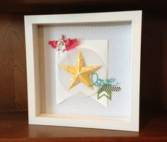 Stampin' Up! home decor frame using Christmas Star single stamp | Melody H, Stampin' Up! Blog