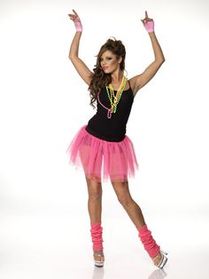 """This image is from the 80s. This is a disco styled outfit that would be popular back then. Surprisinly, the """"tutu"""" kind of look has made a slight comeback in some styles. The tulle is popular for some skirts as shown in the other picture posted. This is not an exact replica but it could have been inspired from this look. Sarah A"""