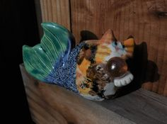 Calico Catfish by Dragonware on Etsy