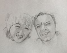 Day 24: A Couple. I am very proud to be MOH for this couple next year! By Teena McDougall. 30 Day Drawing Challenge, Couple, Drawings, Art, Couples, Sketch, Kunst, Portrait, Drawing