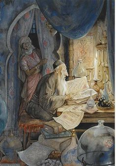1001 Arabian Nights by Anton Pieck (Dutch Illustrator beautiful color. just beautiful Edmund Dulac, Anton Pieck, Kay Nielsen, Inspiration Art, Art Et Illustration, Book Illustrations, Botanical Illustration, William Blake, Dutch Painters