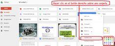 Crea y aprende con Laura: Cambiar de color las carpetas de #GoogleDrive