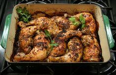 Bainbridge Island Vineyard Greek Garlic Chicken #gluten-free