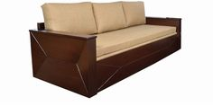 Zian Sofa Cum Bed in Honey Finish by Living Room by The Living Room Online - Wood Framed - Furniture - Pepperfry Product