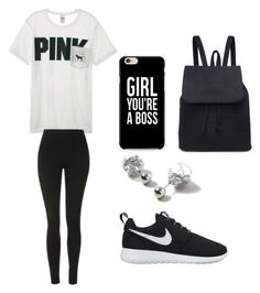 """""""School set"""" by emilyg1313 on Polyvore featuring Victoria's Secret, Topshop, NIKE and Dorothy Perkins"""