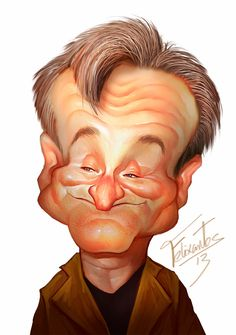 This is an example of caricature of Robin Williams. It exaggerates his head size and nose. Robin Williams, Cartoon Faces, Funny Faces, Cartoon Art, Caricature Artist, Caricature Drawing, Funny Caricatures, Celebrity Caricatures, Sketch Manga