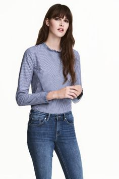 Frilled cotton blouse | H&M