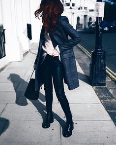 new season  @karen_millen ticking leather pants off my to-do list ...outfit links on lornaluxe.com