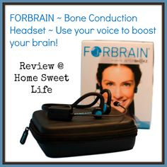 Home Sweet Life Blog ~ The Forbrain bone conduction headset is designed for the user to boost their own brain through the use of their voice. Curriculum, Homeschool, Your Voice, Sweet Life, Book Review, Headset, Brain, Games, Books