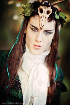 Midsummer Nights Dream male makeup