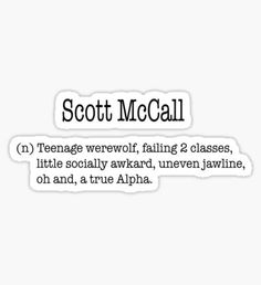Teen Wolf stickers featuring millions of original designs created by independent artists. Teen Wolf Scott, Teen Wolf Dylan, Scott Mccall, Teenage Werewolf, Jeep Stickers, Youtube Memes, Teen Wolf Funny, Good Buddy, Aesthetic Pastel Wallpaper