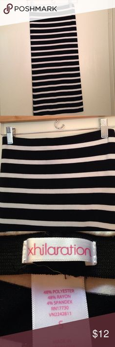 Tube dress Black and white striped tube dress from target. Elastic around bust line. Body con style. Super cute on, and form fitting! Only worn once Xhilaration Dresses Mini