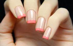 Nails uñas color coral, nude nails, coral nails, my nails, nail man Coral Nails, Nude Nails, French Nails, Uñas Color Coral, Colour, Hair And Nails, My Nails, Manicure, Nagel Hacks