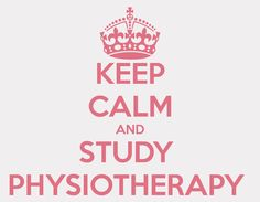 keep calm and physiotherapy