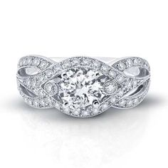 A gorgeous round engagement ring by Vanna K