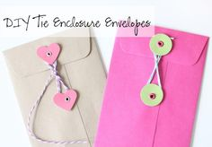 The Twinery: DIY Tie Enclosure Envelopes