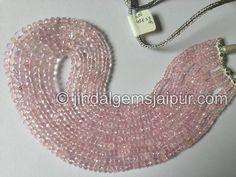 Morganite Far Faceted Roundelle Gemstone Beads.