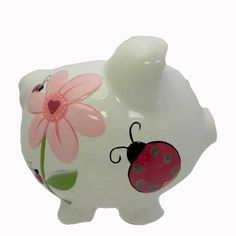 Large Lady Bug Piggy Bank Bank