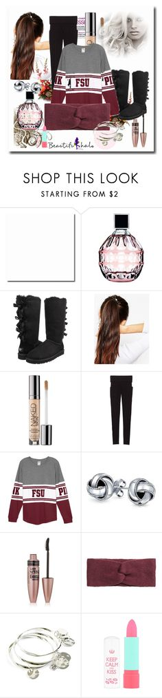 """""""School Outfits"""" by schooloutfits101 on Polyvore featuring Jimmy Choo, UGG Australia, ASOS, Urban Decay, Victoria's Secret, Bling Jewelry, Maybelline, H&M, Vera Bradley and Rimmel"""