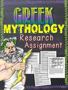 In this free research assignment students research different gods, goddesses, creatures and humans from Greek Mythology. I had my students work individually at home and I had them pick names from a hat. You can have them work in groups and do it in class using laptops if you wish. Some of my students prepared PowerPoint presentations, some made posters and others just made a speech. The CCSS for grades 6-12 are included.