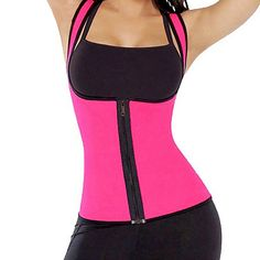 0e15730af Hot Waist Support Brace Belts Body Shaper Slimming Waist Trainer Zipper  Vest Women Large Size Waist