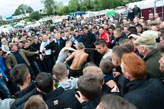 Appleby Horse Fair 2010. Bare knuckle fighting is an integral part of the culture.