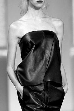 ° Helmut Lang, black leather onesie