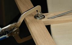 """When you are using the Kreg Jig, clamp your joint line before fastening the screws to make sure you are flush. Use the larger side of the clamp on the """"face"""" side of your work.......d."""
