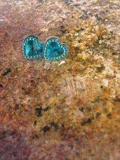 A personal favorite from my Etsy shop https://www.etsy.com/listing/235245210/turquoise-earrings-heart-earrings-stud