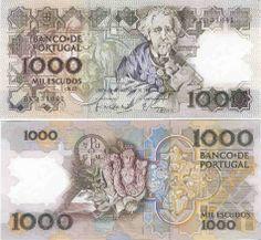 portuguese money | 1000 Escudos 22.12.1988 (Teofilo Braga, artifacts) [ Obverse & Reverse ..