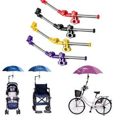 Adjustable Mount Stand Baby Stroller Accessories Baby Stroller Umbrella Holder Multiused Wheelchair Parasol Shelf Bike Connector Convenient To Cook Strollers Accessories