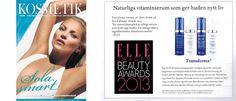 KOSMETIK for the Professional As Featured inElle Beauty Awards 2013byELLE SverigeProfessional Vitamin Serums Invented inSwedenfor Women & Menwww.mytransderma.com