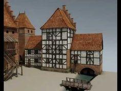 Rekonstruktion des mittelalterlichen Lauenburgs - Trailer für einen film der im Museum in Lauenburg gesehen werden kann. Średniowieczny Lębork - rekonstrukcja 3D - YouTube Castle, Museum, Cabin, 3d, Film, House Styles, Videos, Youtube, Home Decor