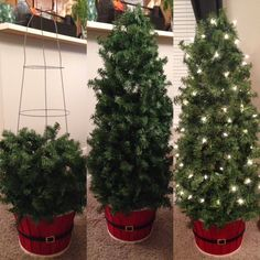 How to Make Inexpensive Indoor/Outdoor Topiary Trees ( Tomato Cage & Garland                                                                                                                                                                                 More